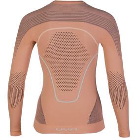 UYN Evolutyon UW LS Shirt Dame coral/anthracite/aqua